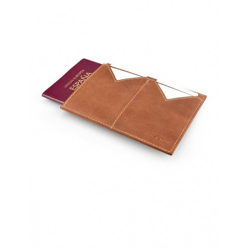 Funda pasaporte hombre piel Slim