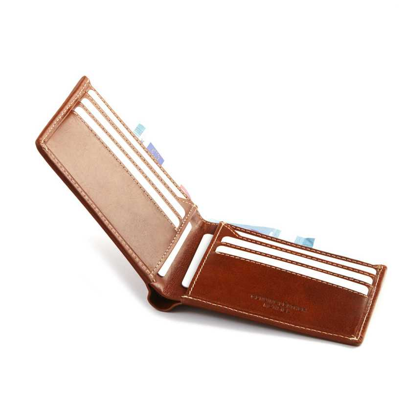 Man leather bifold wallet Mini