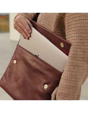 Basic Flap Bag - Burdeos