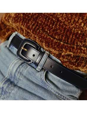 Leather belt Woman with...