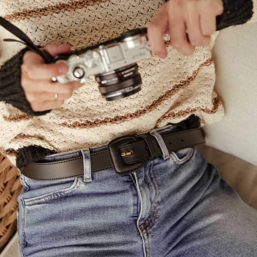 Cinturón de cuero Mujer Hebilla...