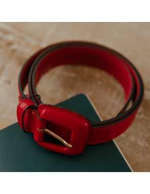 Cinturón de cuero Mujer Hebilla Piel