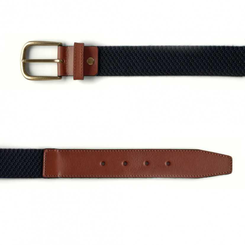 Cintura Elastica in Pelle da Uomo