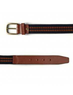 Cinturón Lona y Cuero - Marino