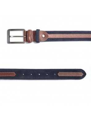 Suede belt with strap - Blue