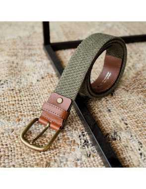 Cinturón Elástico Hombre Piel