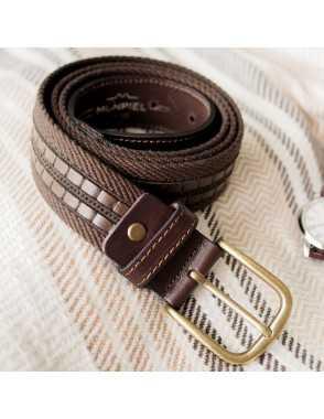 Cinturón Lona y Cuero