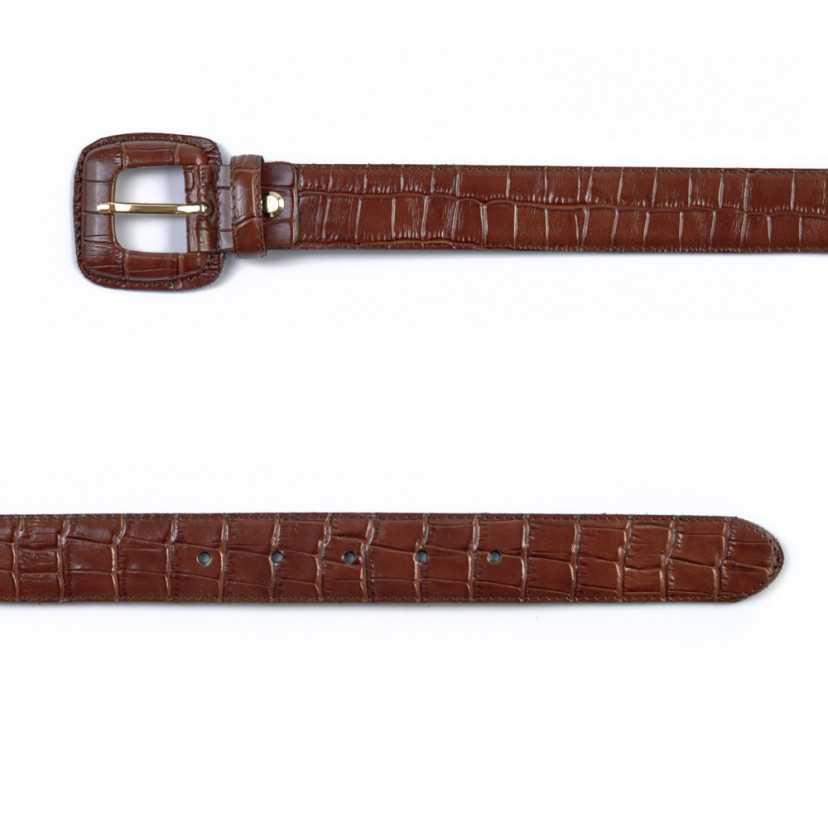 Cinturón Mujer Hebilla Forrada Coco