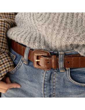 Cinturón hebilla forrada...
