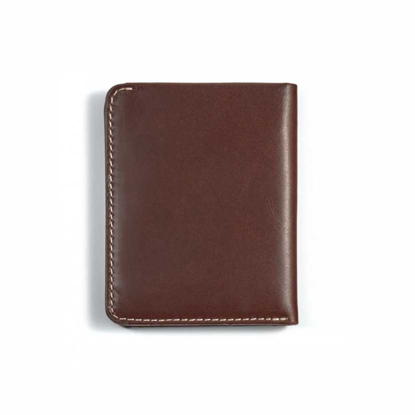 Leather small men's wallet Mini