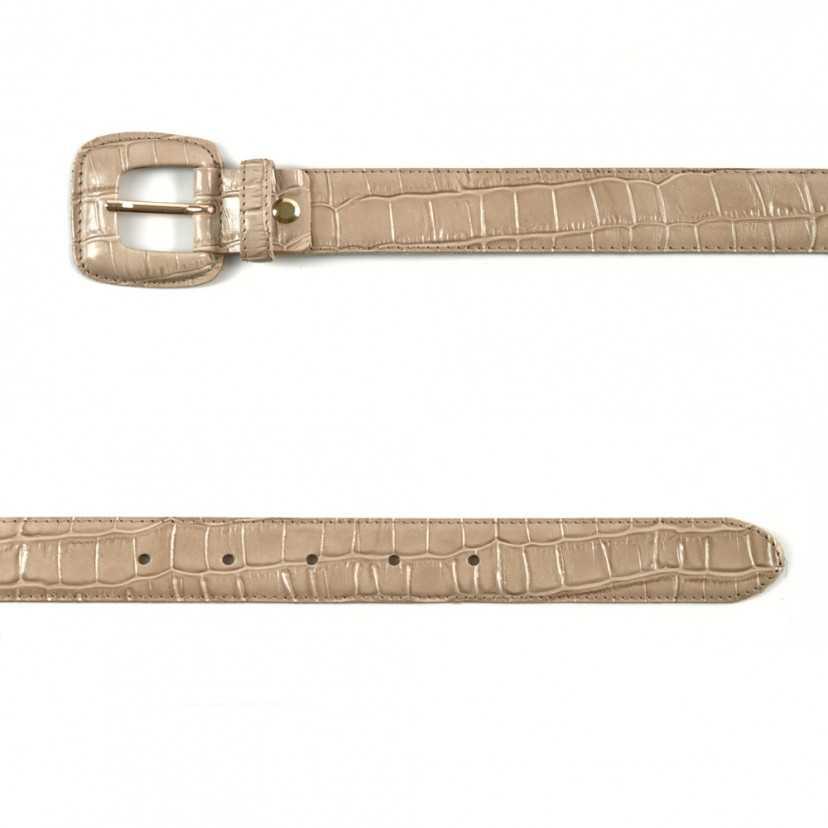 Cinturón piel Coco beige