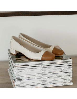 Square toe shoe GABI - Crema