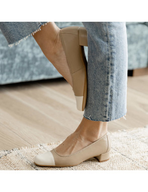 Square toe shoe GABI - Nuez